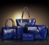 Bolso grabado PU determinado de la señora diseñador de moda de la mujer del cocodrilo del bolso de 6 PCS