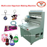 12 ColorsのKeychain Liquid PVC Automatic Moulding Machine