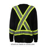 T-shirt r3fléchissant de sûreté de Midium de fabrication long