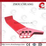 Bloccaggio standard d'acciaio Potere-Rivestito della valvola a sfera usato con il lucchetto di sicurezza