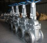Soupape à vanne de bride d'acier inoxydable avec la norme de norme ANSI