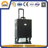 方法トロリー箱のピンクか黒またはヒョウの美のスタジオの専門の構成のケース(HB-6201)