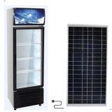 Refrigerador solar de la exhibición de la C.C. con la batería de ion de litio incorporada