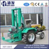 Буровая установка глубокого отверстия Hf100t установленная трактором быстро на Drilling скорости