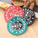 Singola stuoia della tazza del silicone di Starbucks di disegno del regalo promozionale alla moda