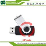 Movimentação plástica do flash do USB do giro da movimentação da pena do logotipo 2016 livre (uwin-003)
