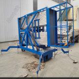 Doppelte Mast-elektrische Antennen-arbeitender anhebender Plattform-Aluminiumlegierung-hydraulischer Aufzug
