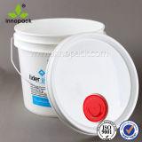 Benna di plastica libera resistente bianca del contenitore del secchio 13L
