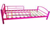 Niño-cama de metal completo Modelo Kd con Spurng madera del listón Base