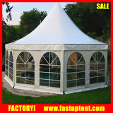 6m 8m Pagode do hexágono de alumínio Dome Tent Garden Party Furniture