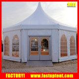 Шатер Carpas Pagoda шестиугольника стеклянной стены для случая свадебного банкета