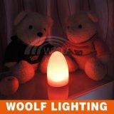 Color que cambia la luz de la noche del huevo del LED para la decoración casera