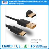 USBケーブルにCケーブルのTPEによって金張りされるコネクターUSB 3.0のタイプC (USBc)をタイプしなさい