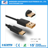 Напечатайте тип на машинке Goldplated TPE разъема кабеля c USB 3.0 c (uSB-c) к кабелю USB