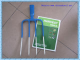 Двойные вилки сада цвета 4teeth железнодорожные стальные