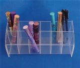 12 de groeven ontruimen de Acryl Plastic Houder van de Vertoning van de Lippenstift voor POS Vertoning