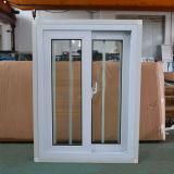 Профиля цвета UPVC хорошего качества окно белого сползая с сетью Kz300 взломщика нержавеющей стали