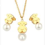 Bijoux Fashion en acier inoxydable Collier ours ensemble de bijoux