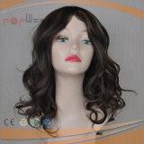 Mismo peluca media rubia del pelo rizado de la mezcla de Populorbrown