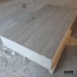 Panneau de mur extérieur solide acrylique de texture de marbre matérielle décorative (KKR-S1910)