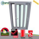 Projeto plástico dobro da porta do indicador de deslizamento da vitrificação UPVC de Ropo
