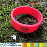 13.56MHz braceletes dos wristbands da microplaqueta do silicone do HF ISO14443A RFID