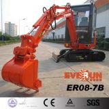 Excavatrice hydraulique de chenille de la marque Er18 d'Everun avec le certificat de la CE