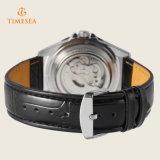 3ATM imperméabilisent la marque de luxe véritable Automatic72239 d'hommes de montre de sport de courroie en cuir
