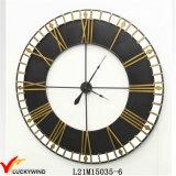 Orologio rotondo rustico industriale della decorazione della parete del metallo di Deocritive della bella retro annata