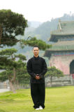 Vêtement de pratique en matière de Kongfu des hommes de toile épais de ressort et de collier de stand d'automne