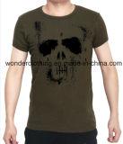 عادة رخيصة سوداء نجاد جمجمة شاشة يطبع [ت] قميص