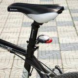 Luz recargable accionada solar de la cola de la bicicleta de la lámpara de seguridad de la parte posterior de la parte posterior de la bici LED