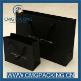 Printing su ordinazione 250g Black Paper Bag per Garment Shopping