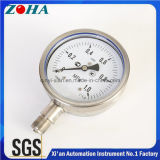 OEM 4 ou 6 Inch All Ss Manometer Bottom Connection com precisão 1,0% Hot Selling no norte da Europa