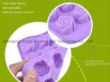 carter de traitement au four de moulage de silicones de gâteau de forme de 15-Cavity Rose Sc36