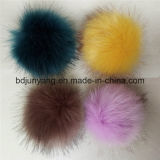 Fascino all'ingrosso del sacchetto dell'anello chiave della pelliccia di Fox del Faux della fabbrica POM POM