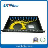 Zahnstange eingehangener Teiler-Kasten PLC-1X16