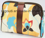 BowのCute 2部分のFashion Ladies Polyester Clutch Cosmetic Bag