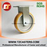 Roulette fixe avec roue PU haute résistance Aluminium Center 125 * 50