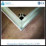 Étape claire en aluminium de mariage de décoration en verre acrylique