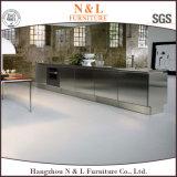 N & L più nuovo armadio da cucina dell'acciaio inossidabile di disegno