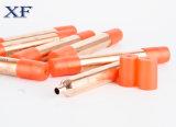 La refrigeración parte el secador de cobre del filtro con los casquillos coloridos
