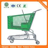 Trole de quatro rodas da compra da venda quente plástica pura com cadeira