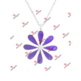 Moda Crystal Charms Jóias Meninas Gift esmalte flor colares (EFN50827)