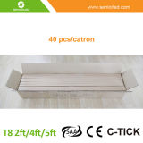 T8 4FT 8FT Fluorescentled Tube Light com caixa de alumínio