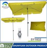 庭4の肋骨の市場の森林紫外線保護長方形のビーチパラソル(SY1832)