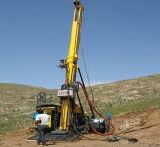 Tipo petróleo hidráulico lleno, plataforma de perforación Hfdx-4 de la correa eslabonada de gas natural