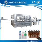 Agua mineral de la botella del animal doméstico máquina que capsula de relleno que se lava 3 in-1