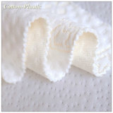 Blanco 100% Poliéster Jacquard Tela Capa de aire para la memoria colchón de espuma / Textiles para el hogar