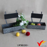 Carré Vintage Retro Galvanized Sheet Metal Chalk Board Planter Boxes